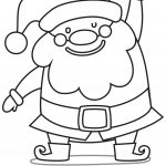 Hohoho Say Hello to Santa Coloring Page