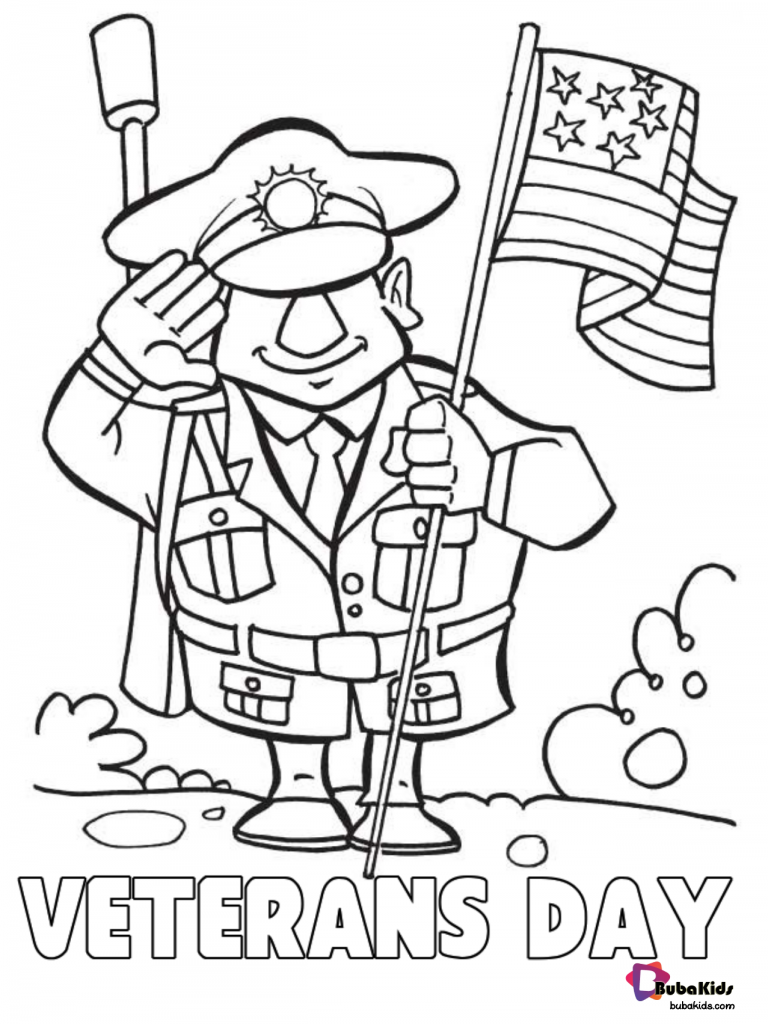 veterans-day-2019-coloring-pages-bubakids-768x1024 Veterans Day printable coloring pages. Cartoon