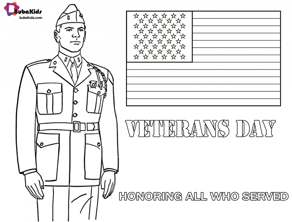 veterans-day-honoring-all-who-served-bubakids-1024x779 Veterans Day Honoring All Who Served coloring page. Cartoon