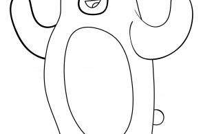 Bear For Preschool Kids Coloring Page
