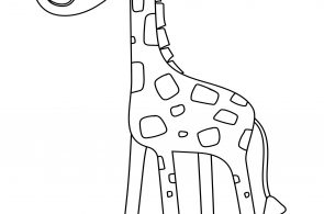 Cute Giraffe For Preschool Kids Coloring Page
