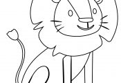 Cute Lion For Preschool Kids Coloring Page