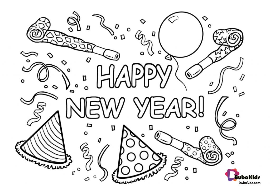 free-download-happy-new-year-printable-coloring-page-1024x720 Free download happy new year printable coloring page. Cartoon