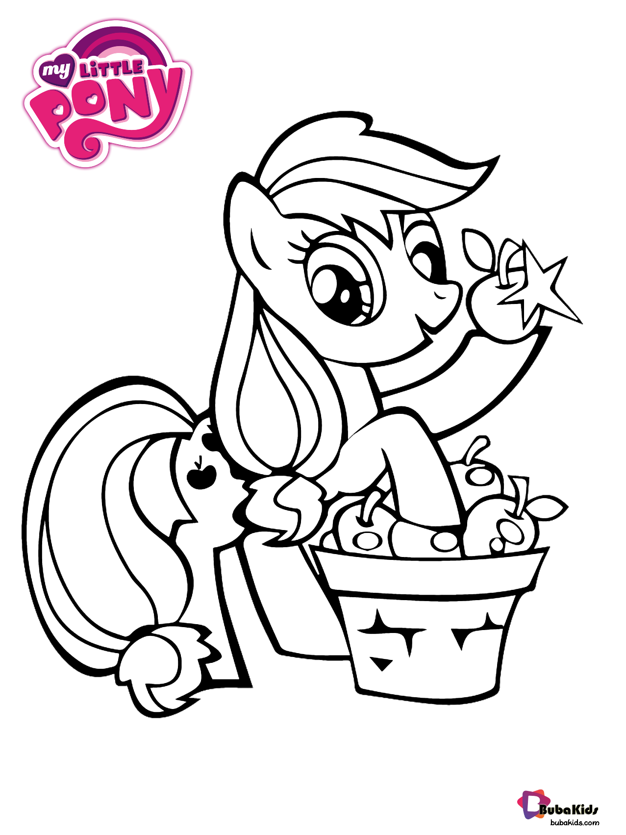 My Little Pony free coloring page for kids. Wallpaper