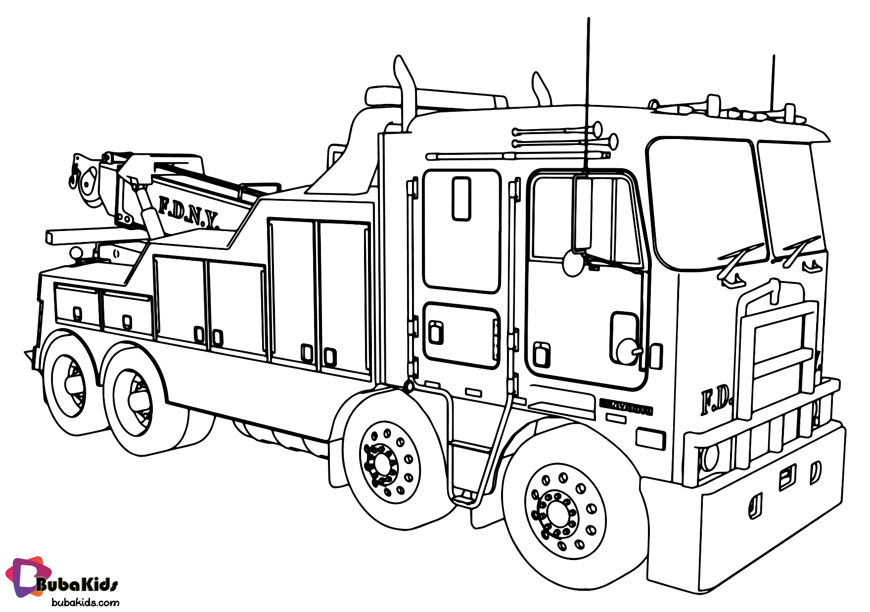 Fire engine fire truck coloring page Wallpaper
