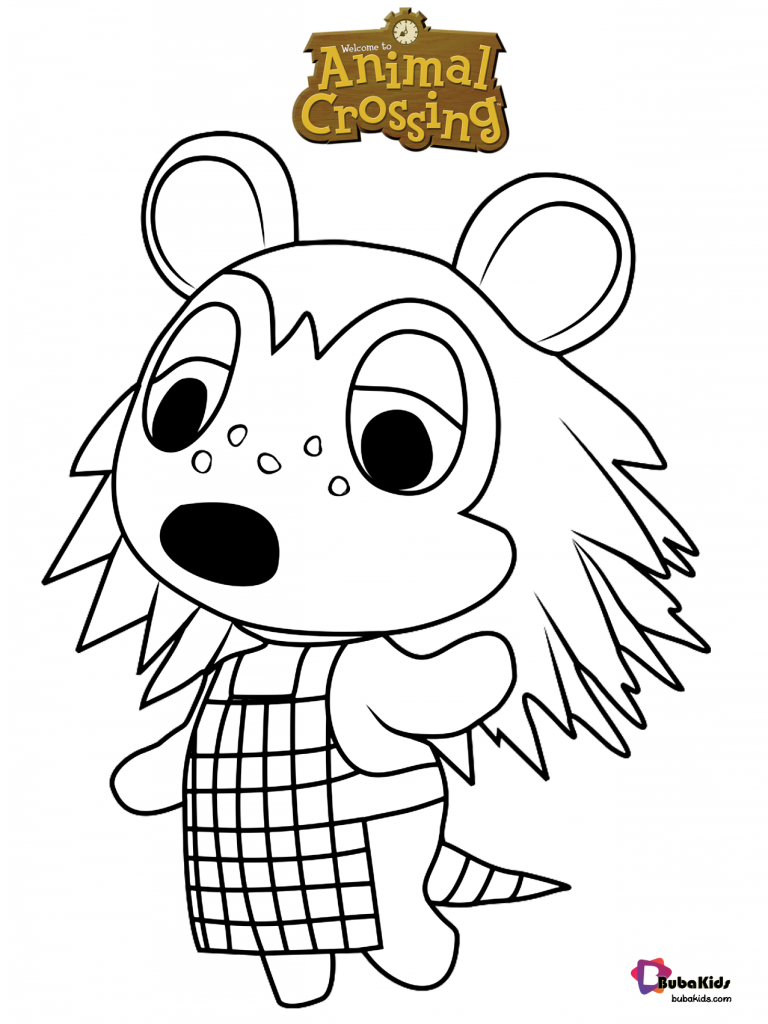 Sable-Animal-Crossing-Coloring-Page-768x1024 Sable Animal Crossing Coloring Page for kids Cartoon
