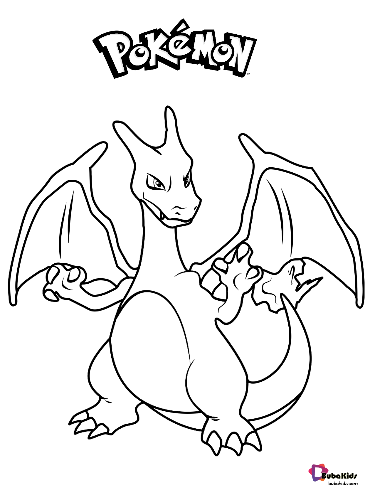 Free download to print Pokemon Charizard coloring page ...