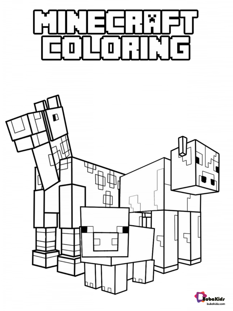 minecraft-coloring-pages-768x1024 Minecraft animals coloring pages Cartoon