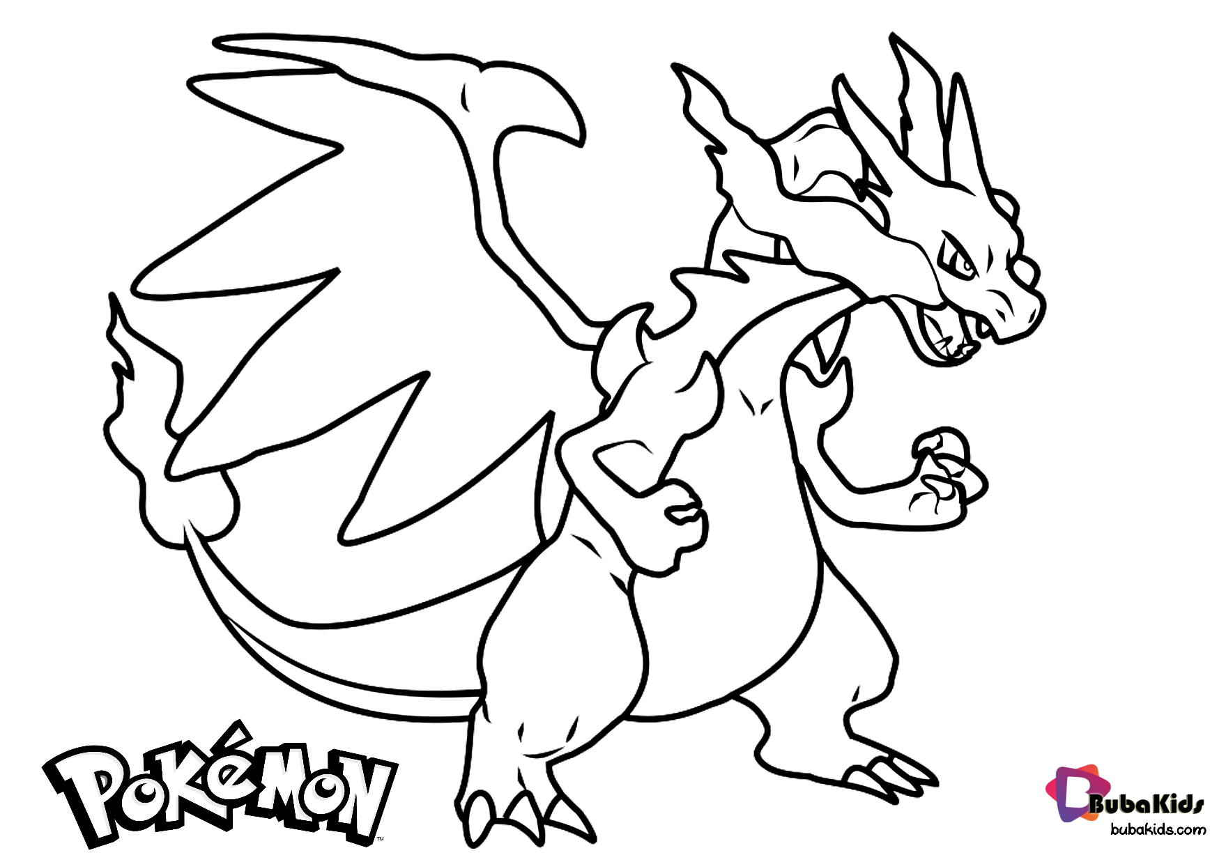 Free download Pokemon Charizard coloring page Wallpaper