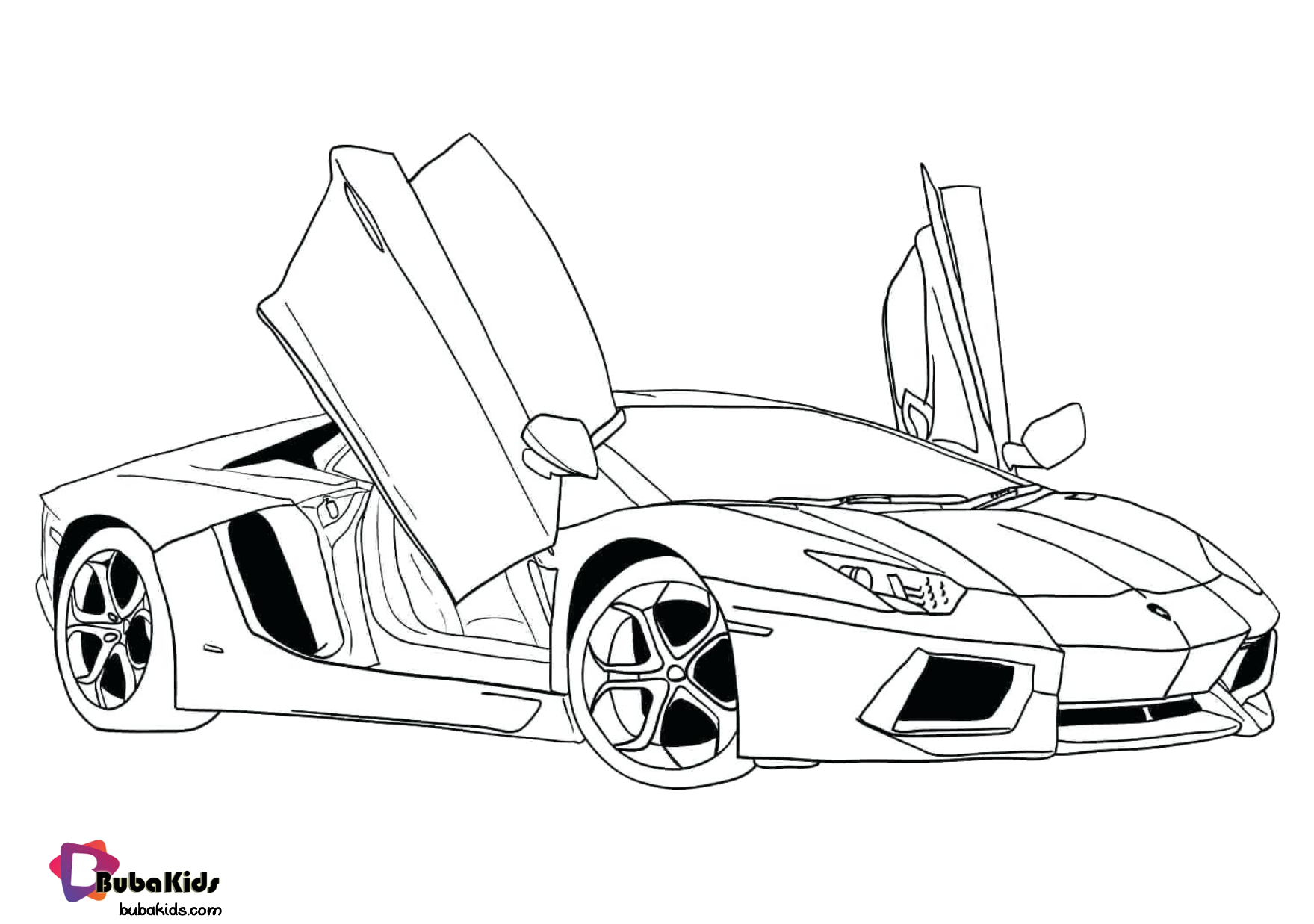 Free download super car coloring pages for kids Wallpaper