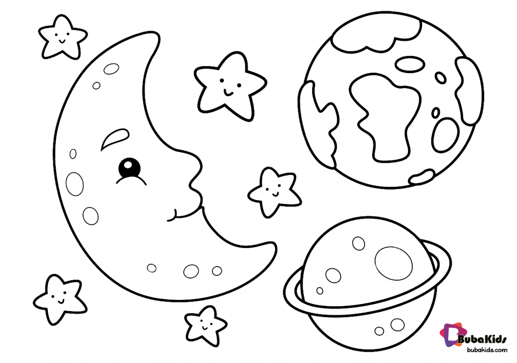 moon-earth-stars-and-saturn-outer-space-coloring-page-1024x720 Moon earth stars and saturn outer space coloring page for toddlers Cartoon