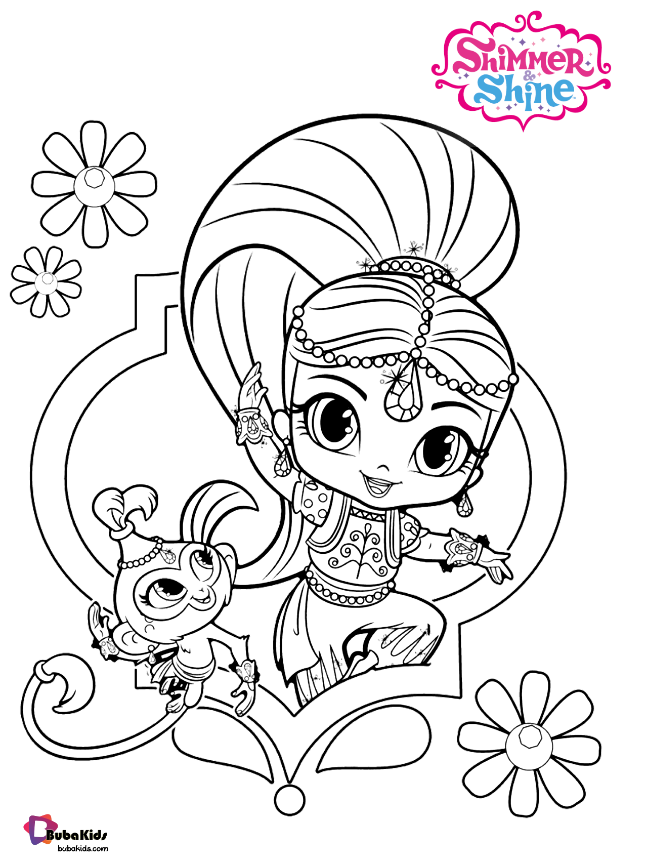 Nick jr Shimmer and Shine free download and printable coloring page Wallpaper