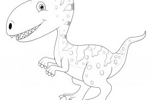 Baby Velociraptor Dinosaurs Coloring Page