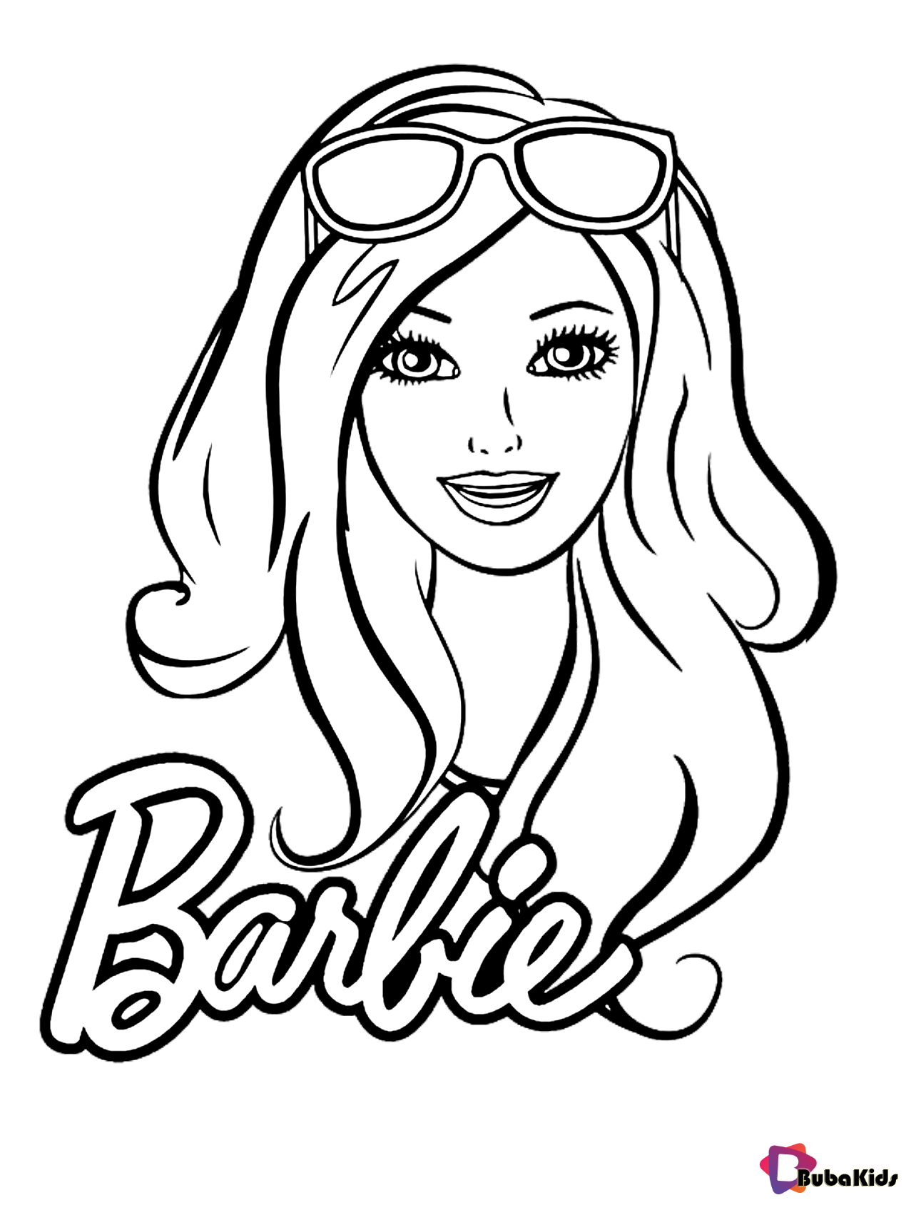 Free download beautiful barbie coloring page for girls Wallpaper