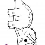 Easy Dinosaurs Triceratops Coloring Page For Kids