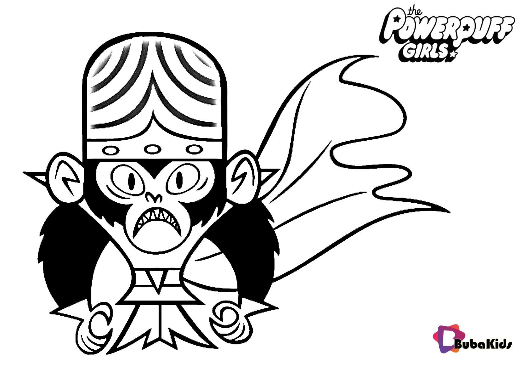 An evil genius monkey Mojo Jojo in naimated series The Powerpuff Girls Wallpaper