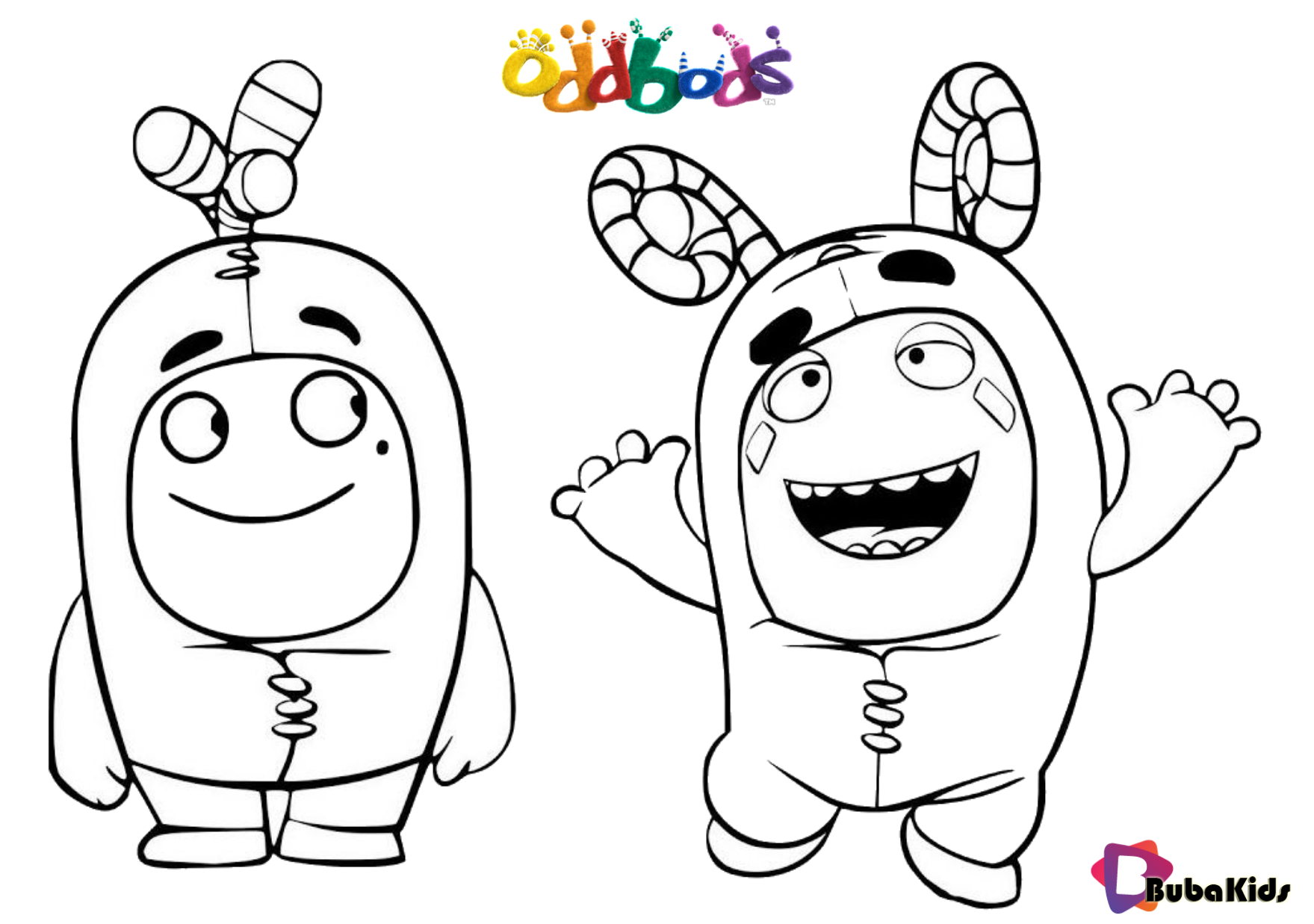 Oddbods tv serials coloring page for kids Wallpaper