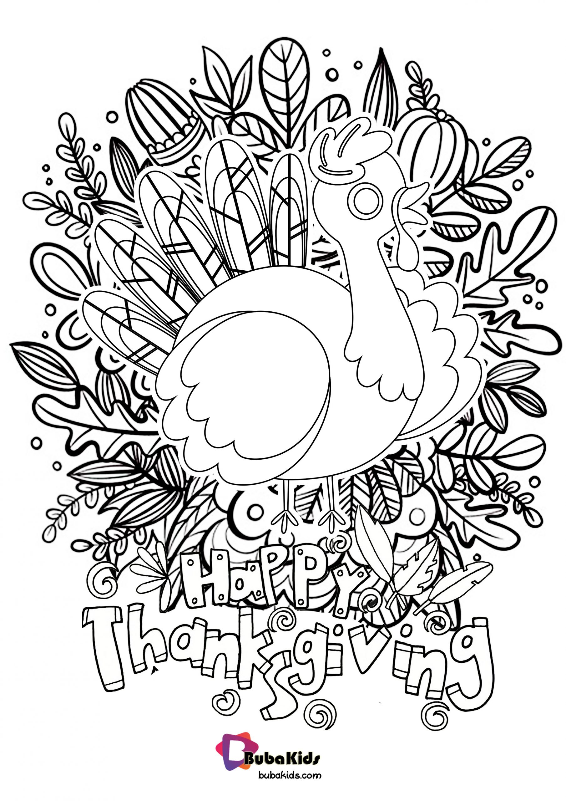 Thanksgiving Coloring Page Wallpaper