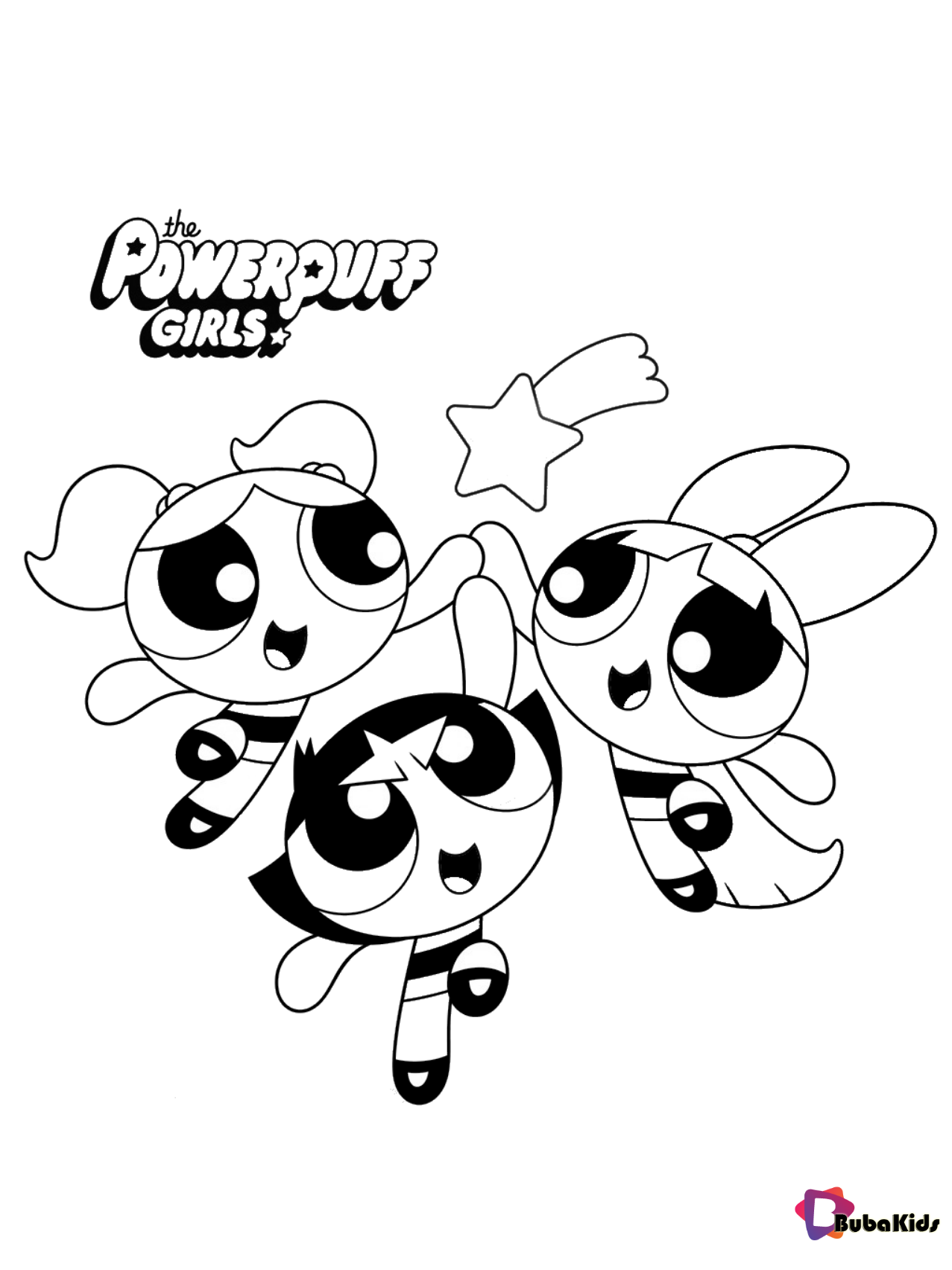 The Powerpuff Girls coloring page Wallpaper
