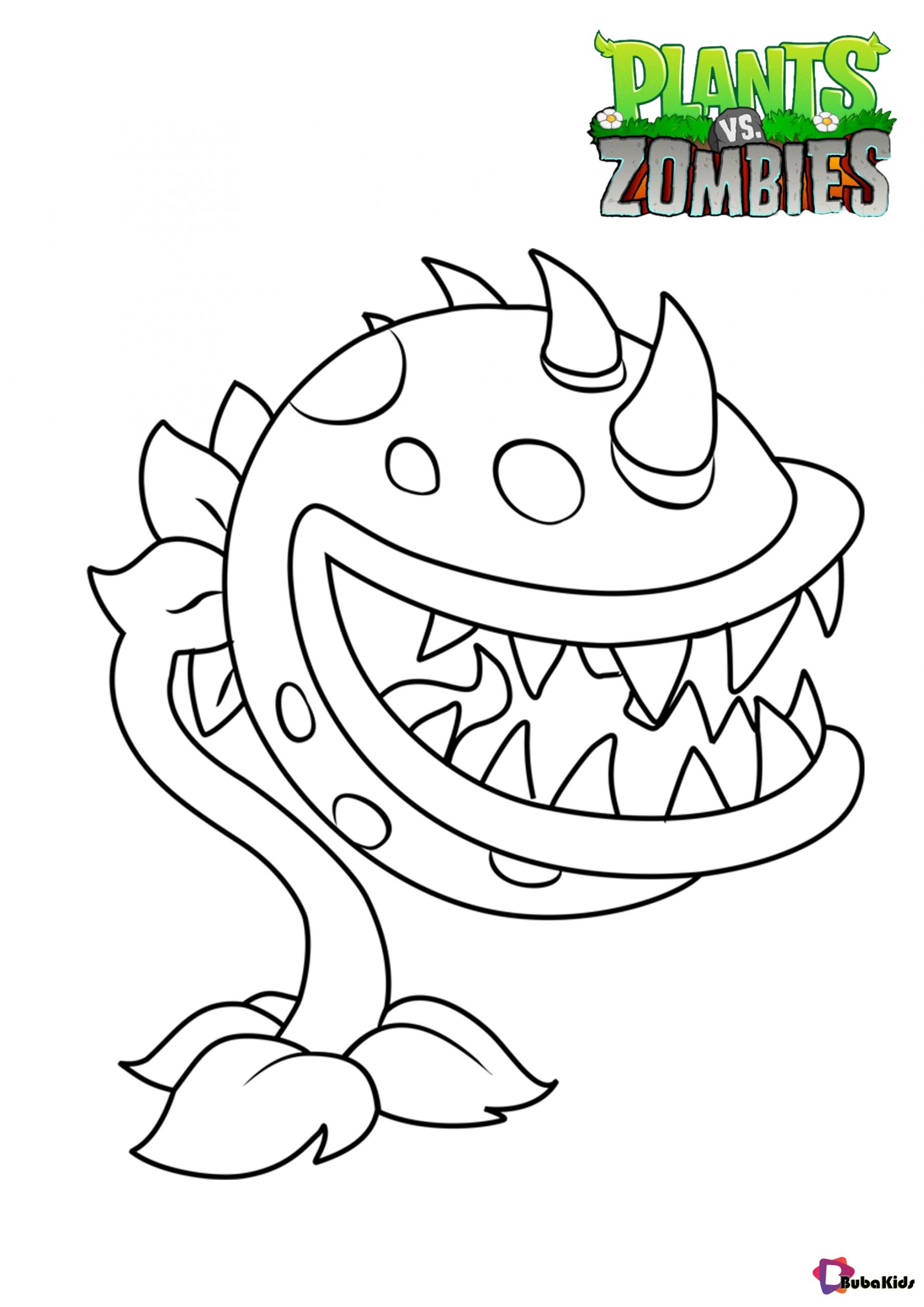 Plants vs Zombies Chomper coloring pages Wallpaper