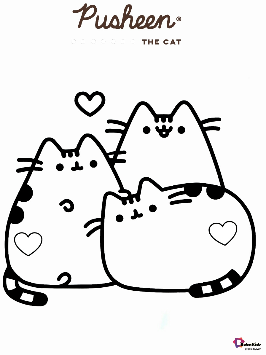 Pusheen the cat and friends coloring pages Wallpaper