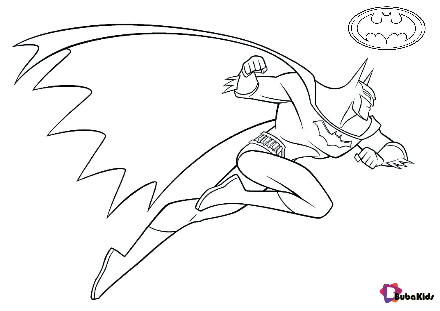 Free coloring picture Batman in action superhero coloring pages for kids Wallpaper