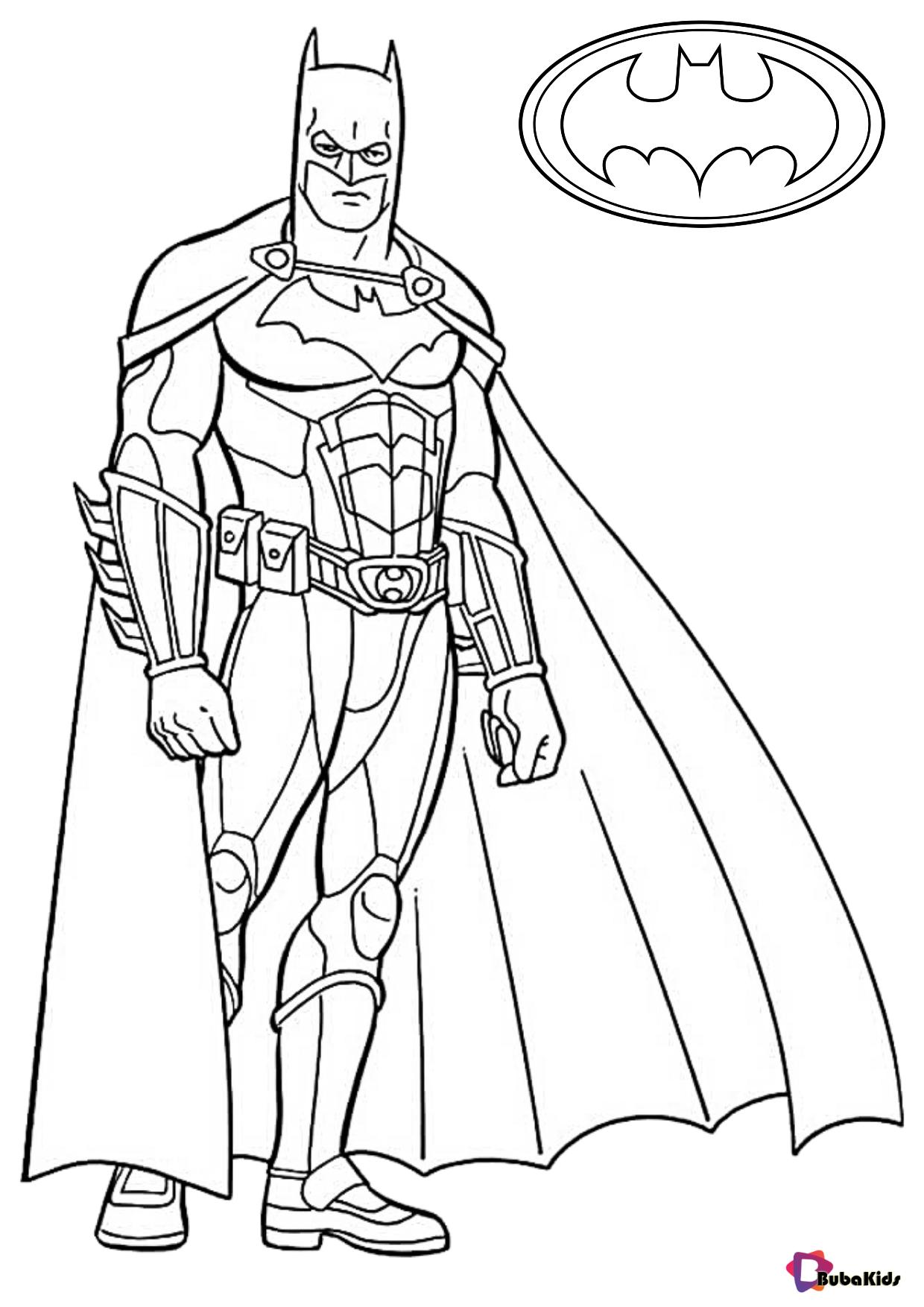 Free download Batman superhero coloring sheet for kids Wallpaper
