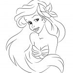 disney princess ariel coloring pages free