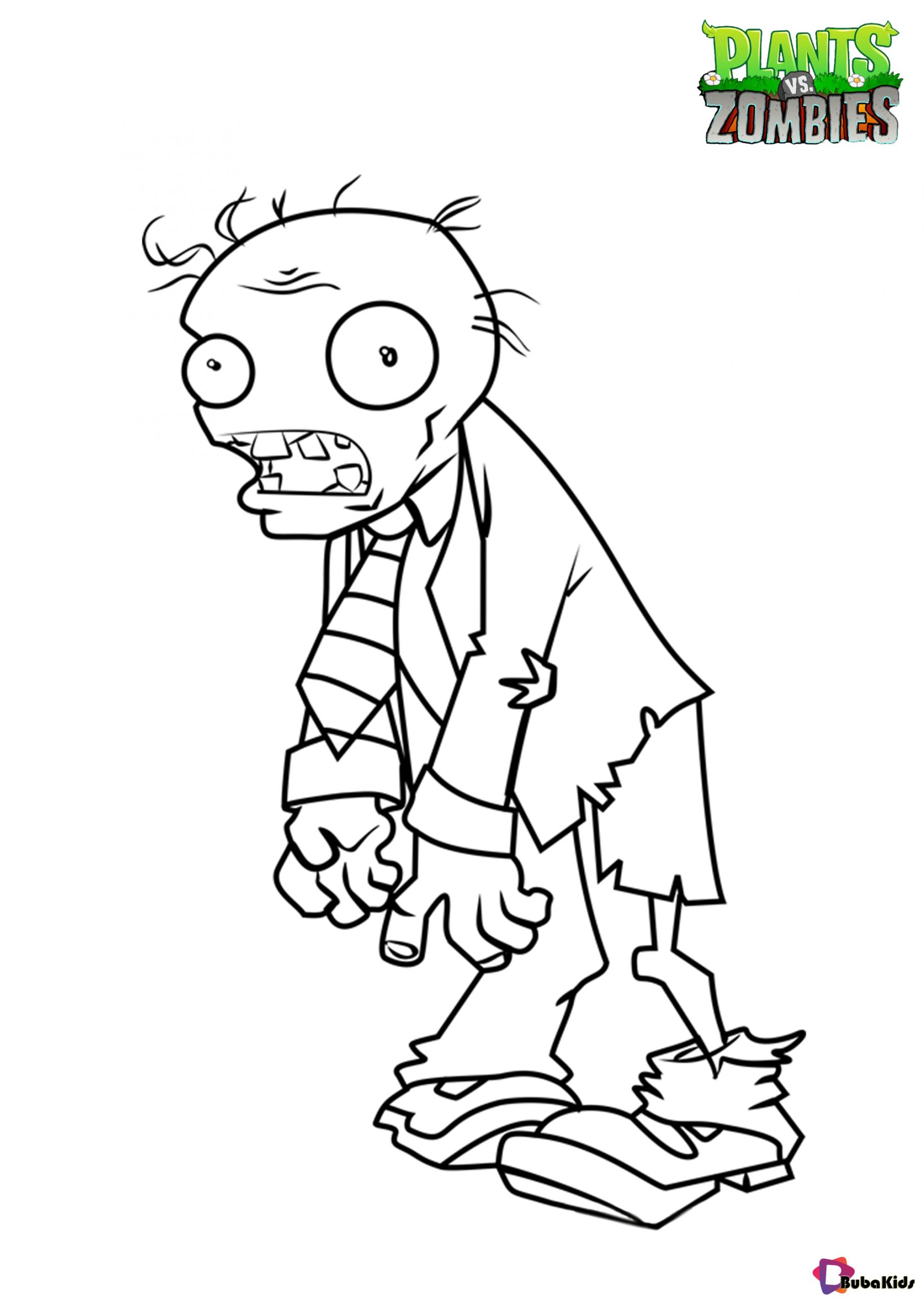 Free download plants vs Zombies coloring page Wallpaper