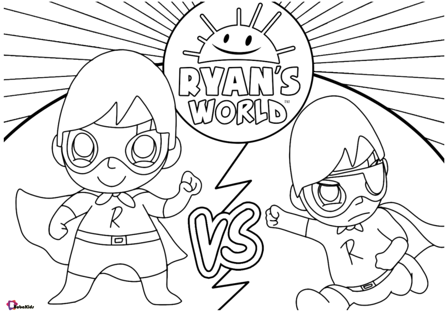 Free download Ryan's World coloring page for kids Wallpaper