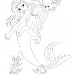 Princess Ariel Coloring Page Tracing By Bubakids