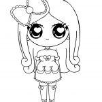 Kawaii Princess Coloring page