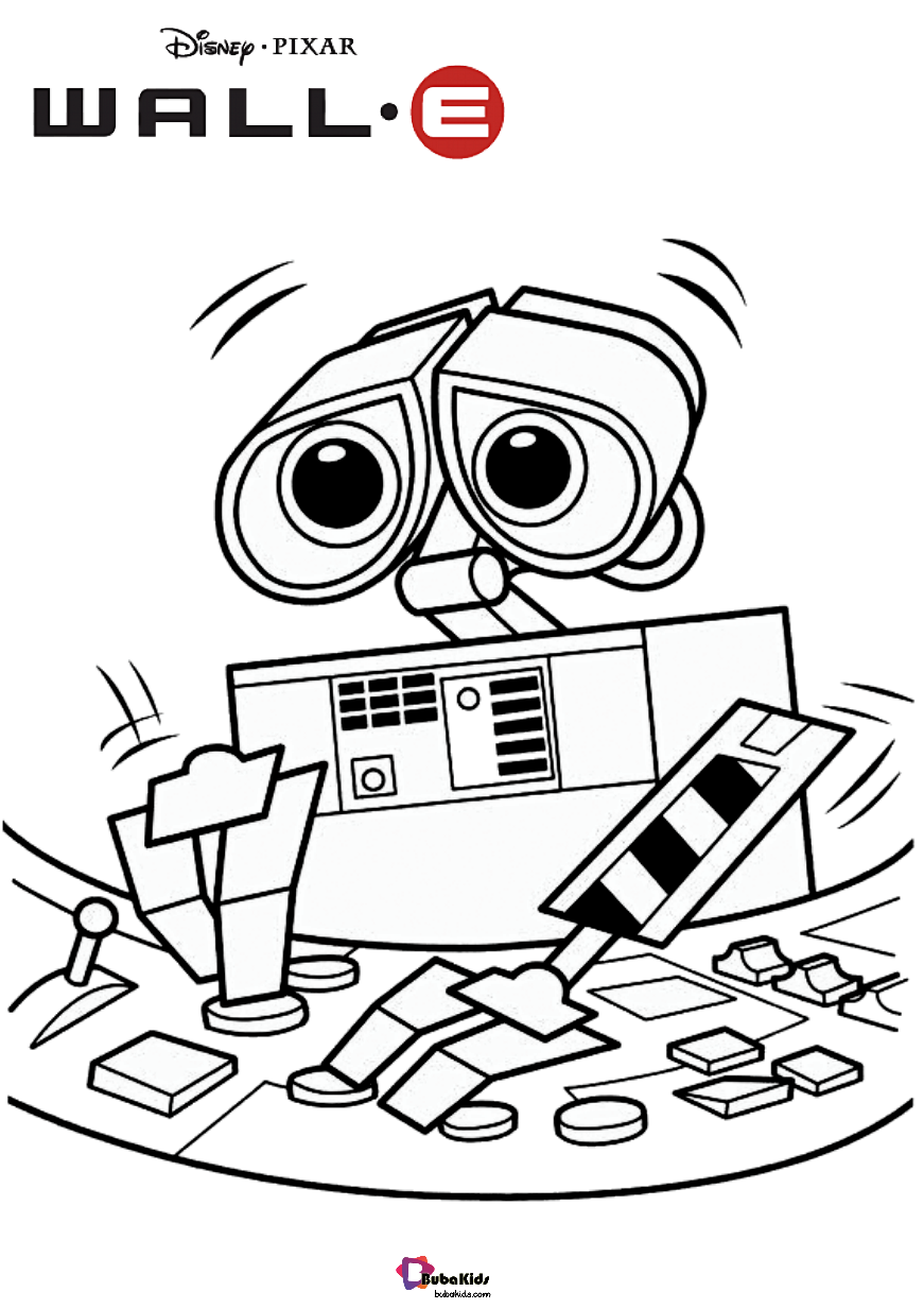 Wall-e-disneys-wall-e-movie-coloring-pages Wall-e disneys wall-e movie coloring pages free download to print and color Cartoon