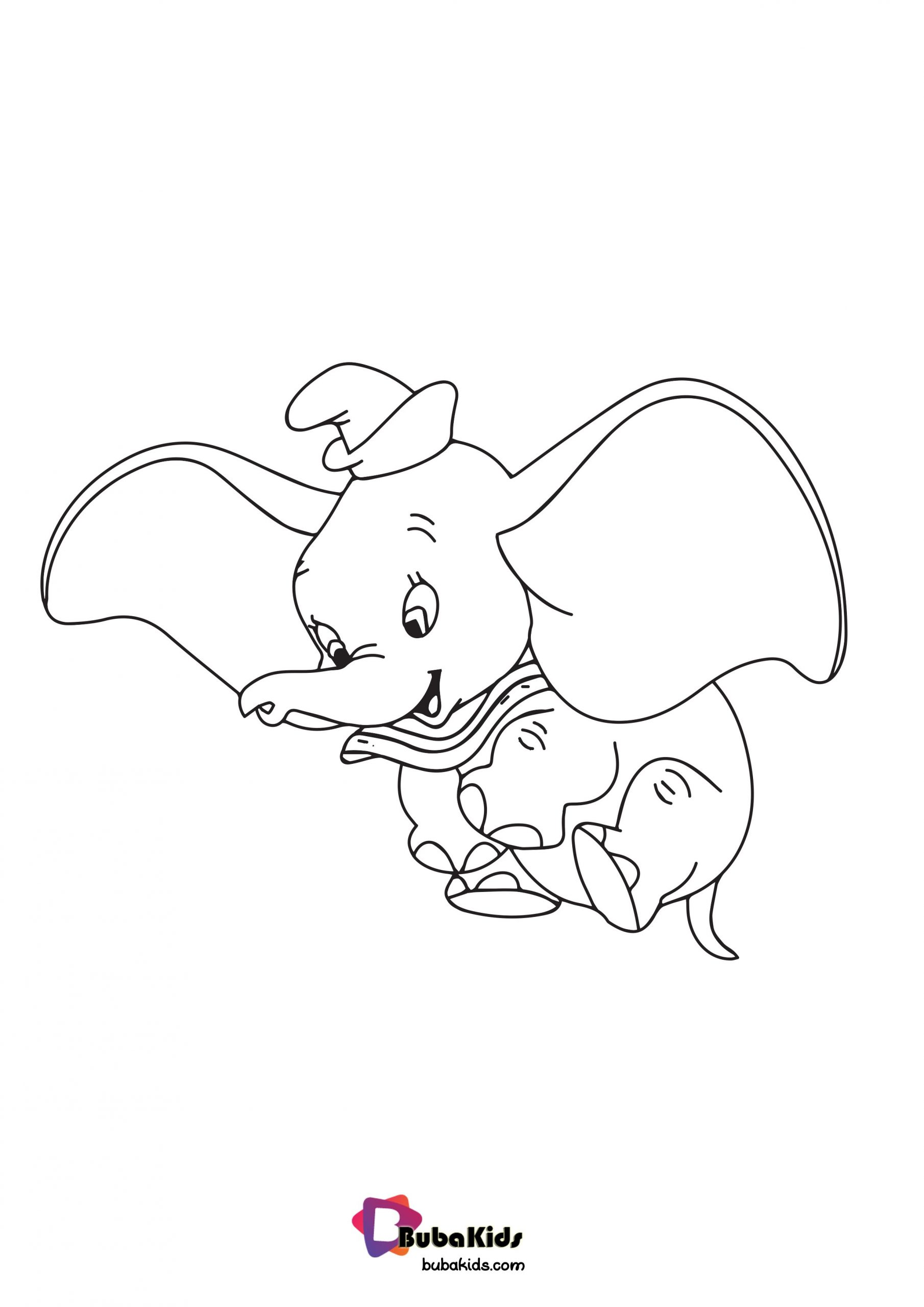 cute dumbo coloring page  bubakids