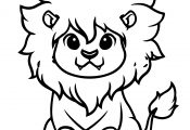 Cute Lion King Coloring Page