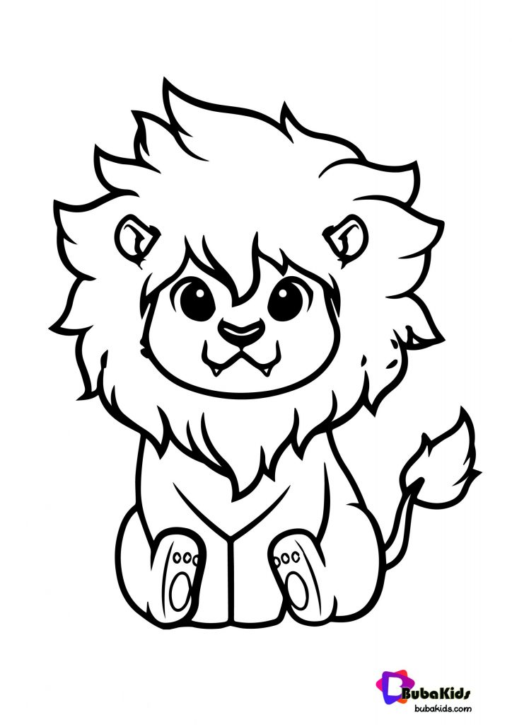 cute-lion-tracing-coloring-page-02-scaled-724x1024 Cute Lion King Coloring Page Animal