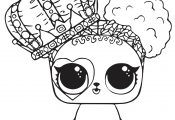 Cute LOL Pet Coloring Page For Girls in HD Resolution