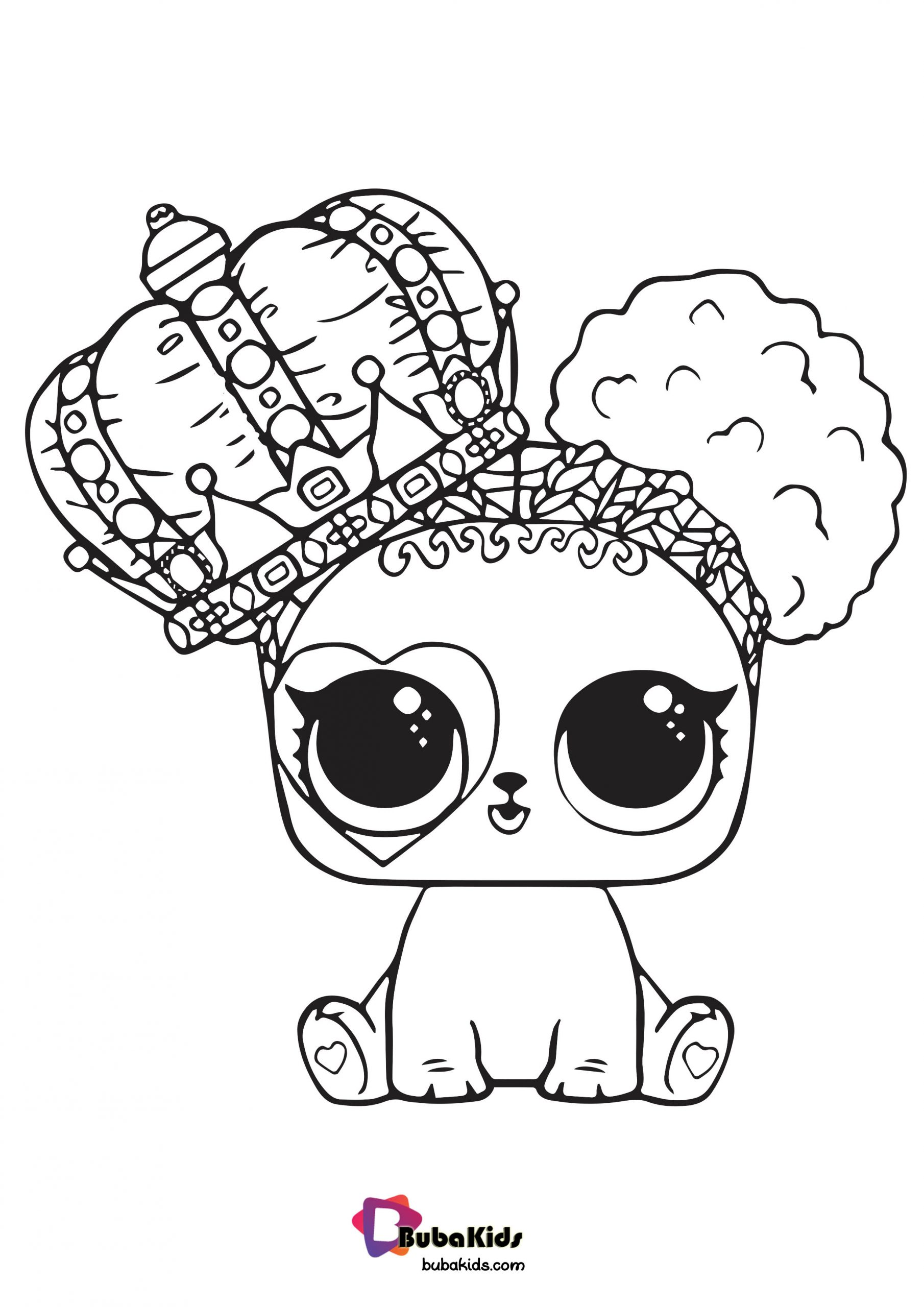 Cute LOL Pet Coloring Page For Girls in HD Resolution ...