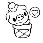Cute Pigo The Pig Coloring Page