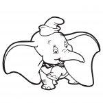 Disney Dumbo Elephant Coloring Page