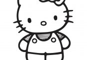 Hello Kitty Cute Coloring Page For Girls