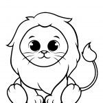 Lion Coloring Page For Toddler