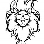 Lion King Illustration Coloring Page For kids