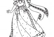 Princess Cinderella Coloring Page For Kids