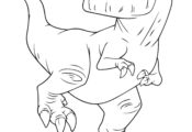 Butch Trex Dinosaurs Coloring Page
