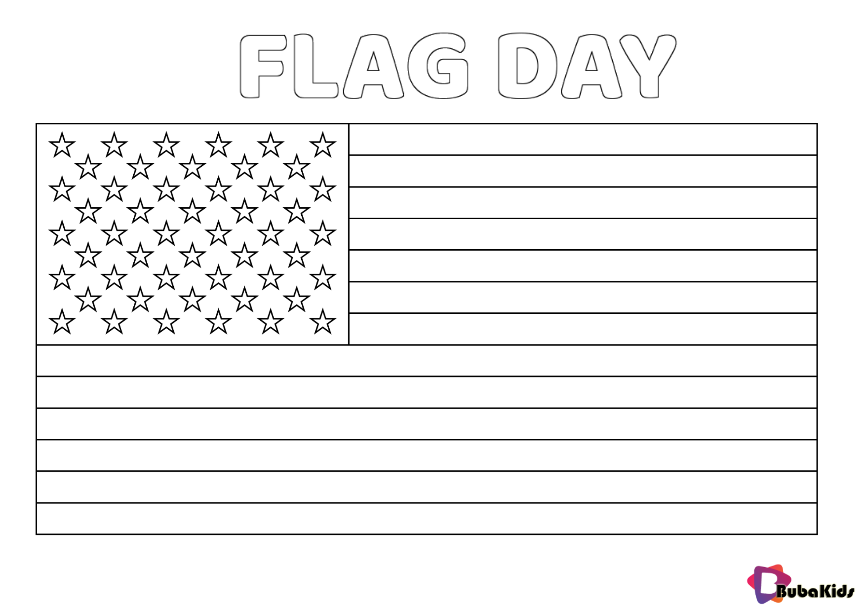 US Flag Day June 14 coloring page Wallpaper