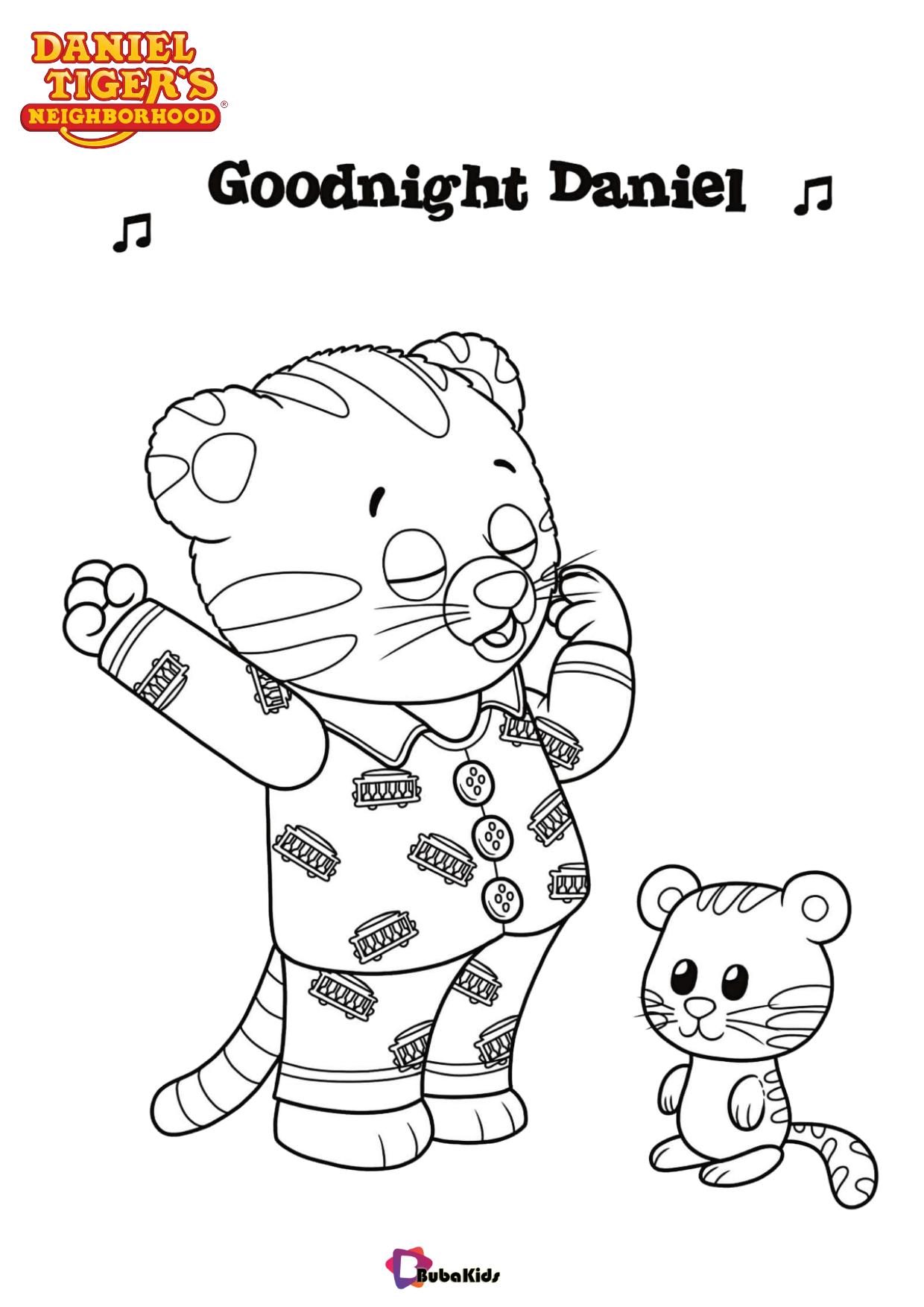 Daniel sings a song Goodnight Daniel tv serial Daniel Tigers Neighborhood coloring page Wallpaper