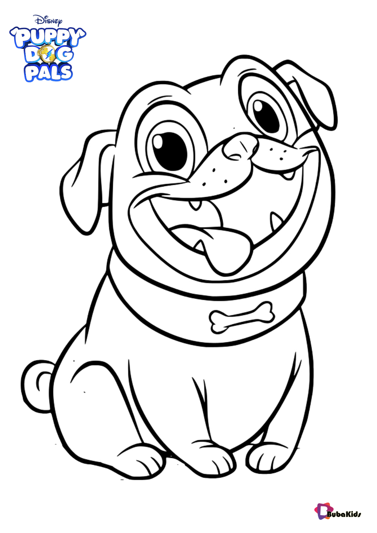 Rolly Puppy Dog Pals children television series coloring page Wallpaper